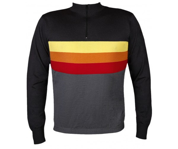 Sunset Wool Cycling Jersey Long Sleeve 74a49ea6a